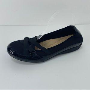 Earth Spirit career flats comfort shoes black